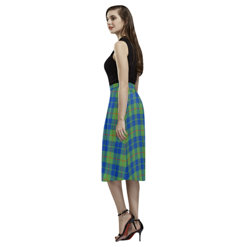 Barclay Hunting Ancient Tartan Aoede Crepe Skirt | Exclusive Over 500 Tartan