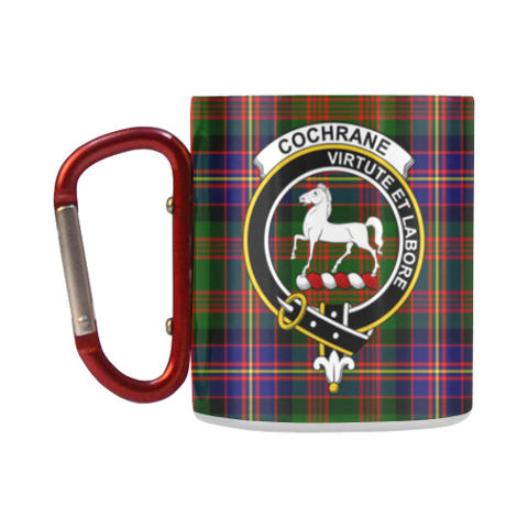 Cochrane Modern  Tartan Mug Classic Insulated - Clan Badge K7