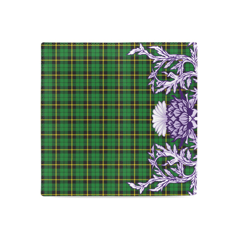 Image of Wallace Hunting - Green Tartan Wallet Women's Leather Wallet A91 | Over 500 Tartan