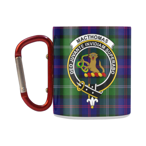 Macthomas Modern Tartan Mug Classic Insulated - Clan Badge K7