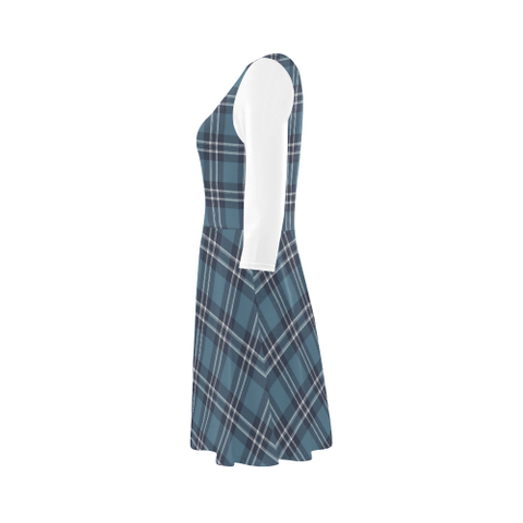 Earl of St Andrews Tartan 3/4 Sleeve Sundress | Exclusive Over 500 Clans