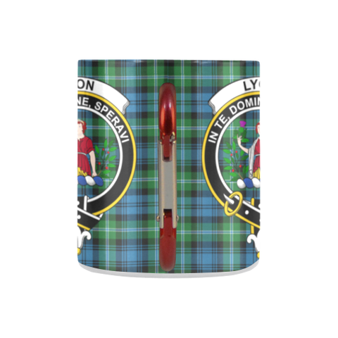Lyon Clan Tartan Mug Classic Insulated - Clan Badge K7