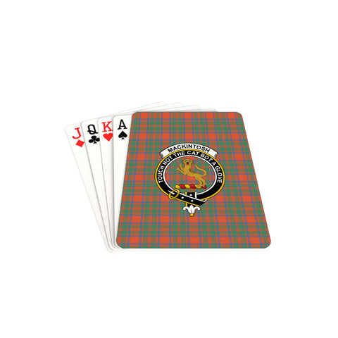 MacKintosh Ancient Tartan Clan Badge Playing Card TH8
