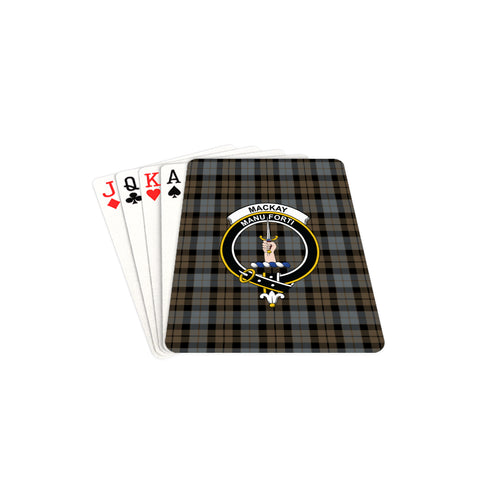 MacKay Weathered Tartan Clan Badge Playing Card TH8