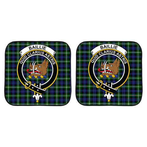 Image of Baillie Modern Clan Crest Tartan Scotland Car Sun Shade 2pcs K7