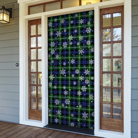 Image of Baillie Modern Christmas Tartan Door Sock Cover