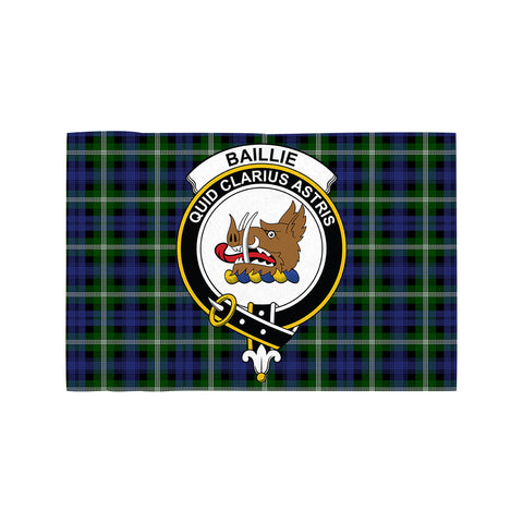 Image of Baillie Modern Clan Crest Tartan Motorcycle Flag