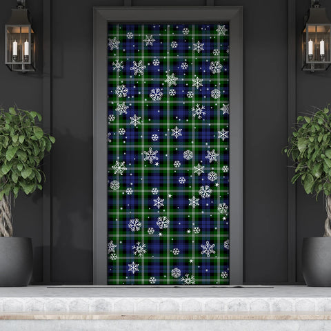 Baillie Modern Christmas Tartan Door Sock Cover