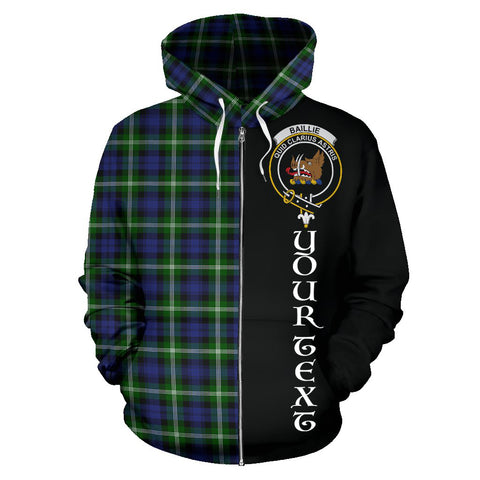 (Custom your text) Baillie Modern Tartan Hoodie Half Of Me TH8