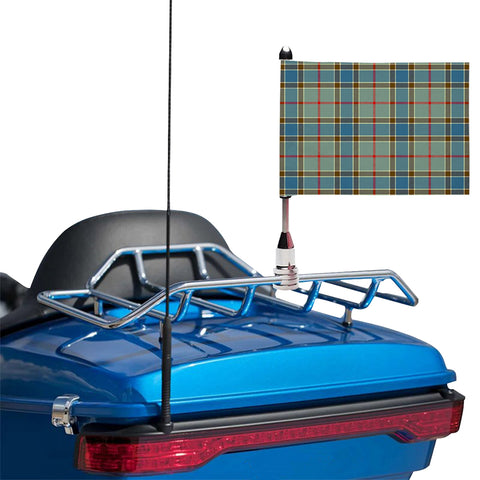 Image of Balfour Blue Clan Tartan Motorcycle Flag