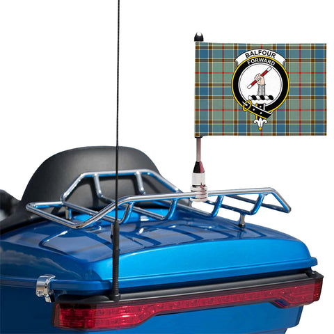 Balfour Blue Clan Crest Tartan Motorcycle Flag
