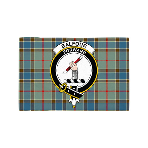 Image of Balfour Blue Clan Crest Tartan Motorcycle Flag