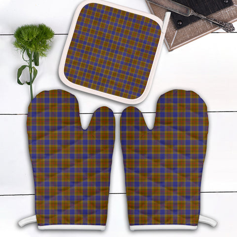 Balfour Modern Clan Tartan Scotland Oven Mitt And Pot-Holder (Set Of Two)