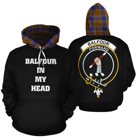 Image of Balfour Modern In My Head Hoodie Tartan Scotland K9
