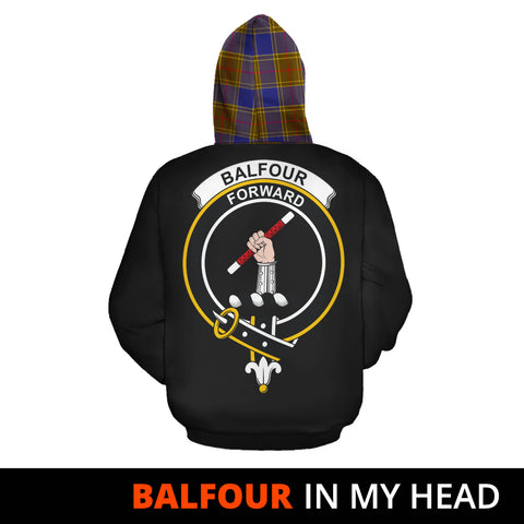 Balfour Modern In My Head Hoodie Tartan Scotland K9