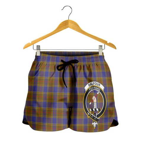 Balfour Modern Crest Tartan Shorts For Women K7