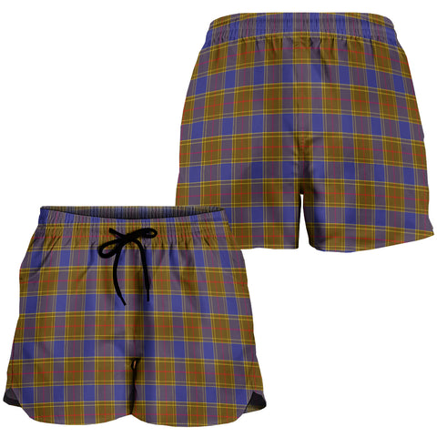 Image of Balfour Modern Crest Tartan Shorts For Women K7