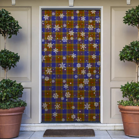 Image of Balfour Modern Christmas Tartan Door Sock Cover
