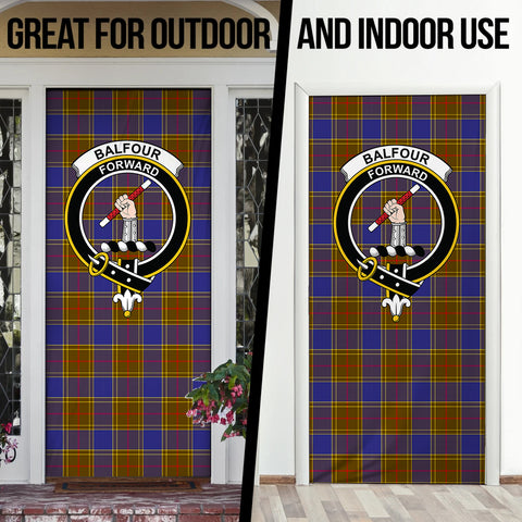 Balfour Modern Tartan Door Sock Cover
