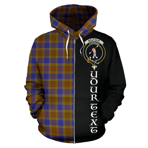 Image of (Custom your text) Balfour Modern Tartan Hoodie Half Of Me TH8