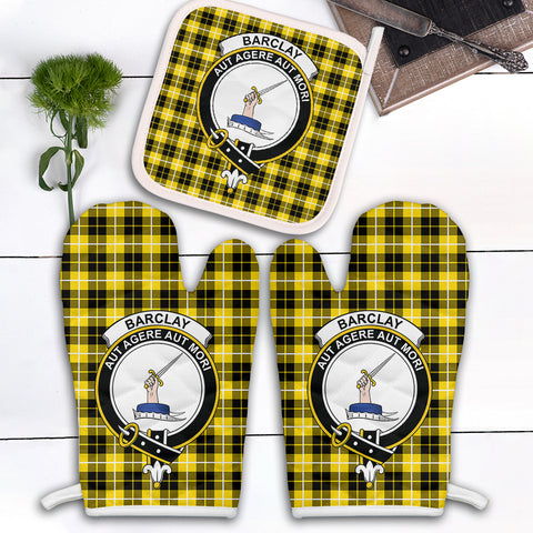 Barclay Dress Modern Clan Crest Tartan Scotland Oven Mitt And Pot-Holder (Set Of Two)
