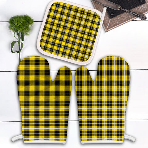 Image of Barclay Dress Modern Clan Tartan Scotland Oven Mitt And Pot-Holder (Set Of Two)