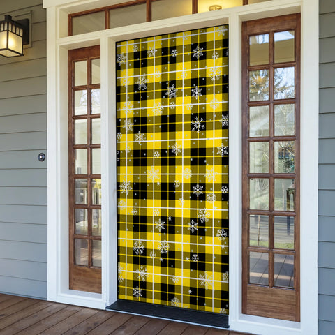 Barclay Dress Modern Christmas Tartan Door Sock Cover