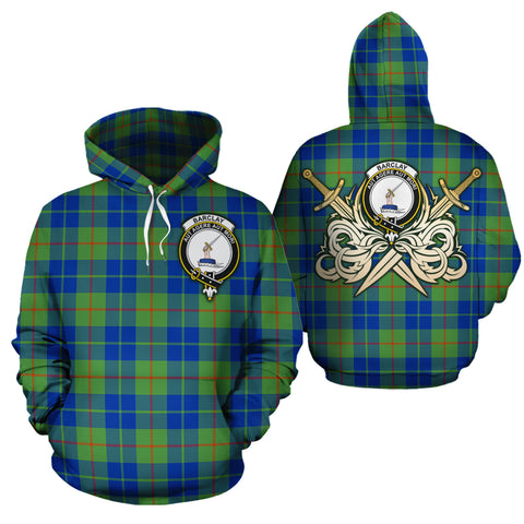 Barclay Hunting Ancient Clan Crest Tartan Scottish Gold Thistle Hoodie