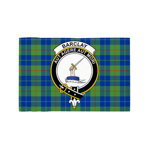 Barclay Hunting Ancient Clan Crest Tartan Motorcycle Flag
