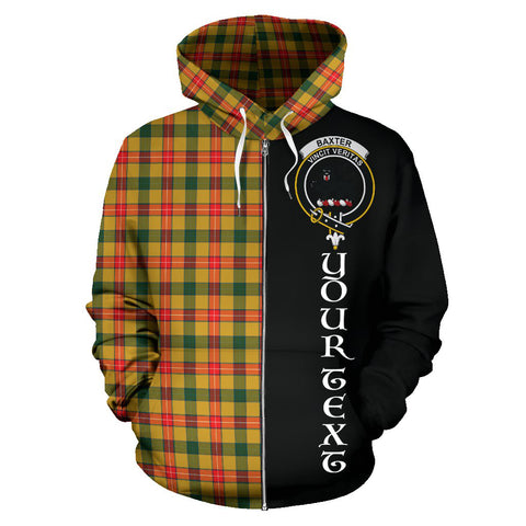 Image of (Custom your text) Baxter Tartan Hoodie Half Of Me TH8