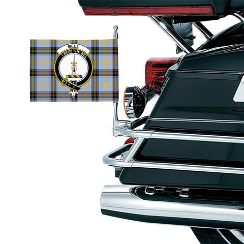 Bell of the Borders Clan Crest Tartan Motorcycle Flag