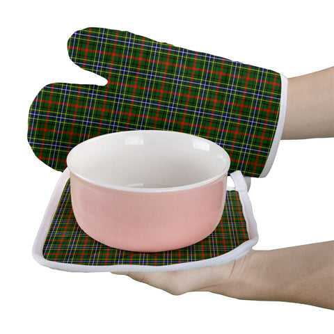 Image of Bisset Clan Tartan Scotland Oven Mitt And Pot-Holder (Set Of Two)