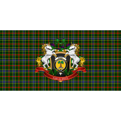 Image of Bisset Crest Tartan Tablecloth Unicorn Thistle A30