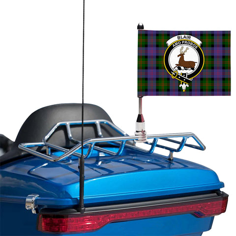 Blair Modern Clan Crest Tartan Motorcycle Flag