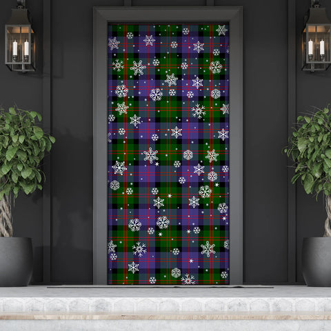 Blair Modern Christmas Tartan Door Sock Cover