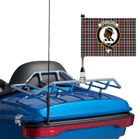 Borthwick Ancient Clan Crest Tartan Motorcycle Flag