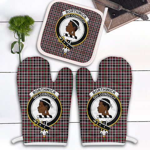 Borthwick Ancient Clan Crest Tartan Scotland Oven Mitt And Pot-Holder (Set Of Two)