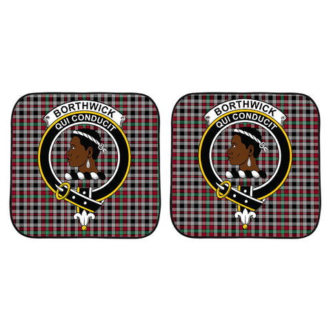 Borthwick Ancient Clan Crest Tartan Scotland Car Sun Shade 2pcs K7