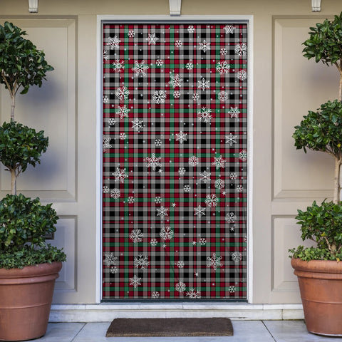 Borthwick Ancient Christmas Tartan Door Sock Cover