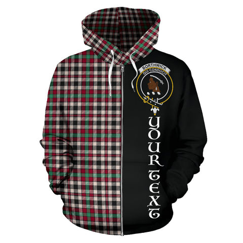 Image of (Custom your text) Borthwick Dress Ancient Tartan Hoodie Half Of Me TH8