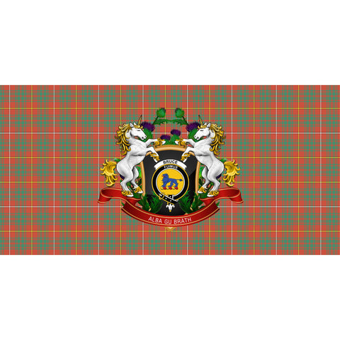 Bruce Ancient Crest Tartan Tablecloth Unicorn Thistle A30