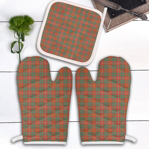 Bruce Ancient Clan Tartan Scotland Oven Mitt And Pot-Holder (Set Of Two)