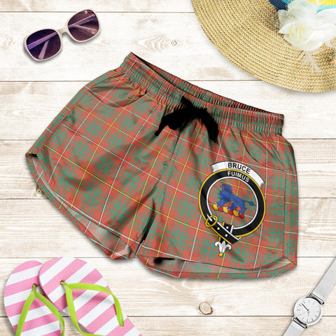 Bruce Ancient crest Tartan Shorts For Women
