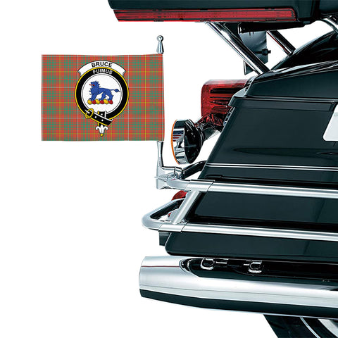 Bruce Ancient Clan Crest Tartan Motorcycle Flag