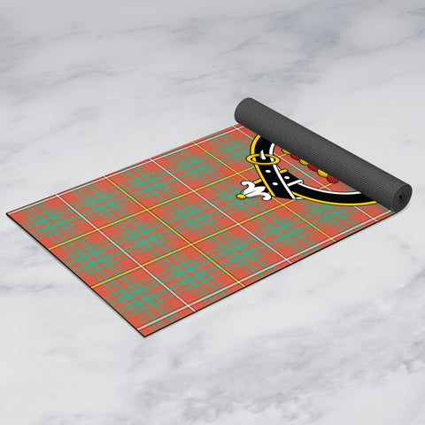 Bruce Ancient Clan Crest Tartan Yoga mats