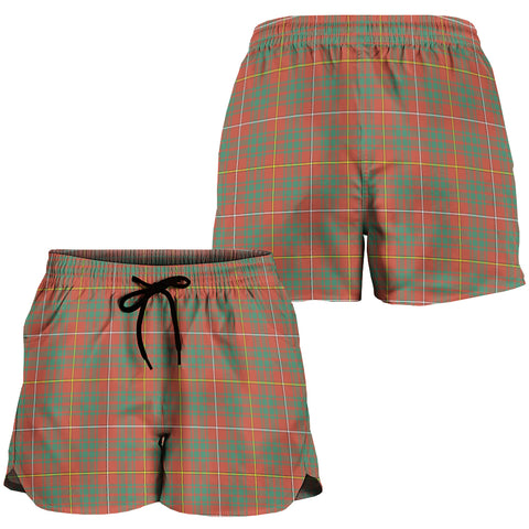 Bruce Ancient Crest Tartan Shorts For Women K7
