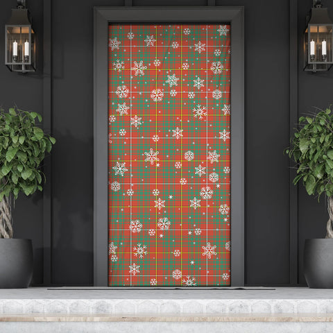 Bruce Ancient Christmas Tartan Door Sock Cover