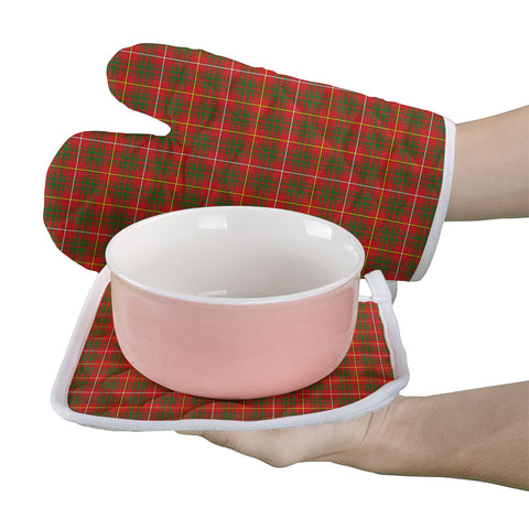 Image of Bruce Modern Clan Tartan Scotland Oven Mitt And Pot-Holder (Set Of Two)
