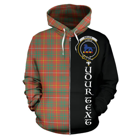 (Custom your text) Bruce Ancient Tartan Hoodie Half Of Me TH8