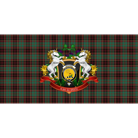 Image of Buchan Ancient Crest Tartan Tablecloth Unicorn Thistle A30